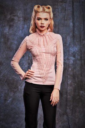 Natural Silk Long Sleeves Top