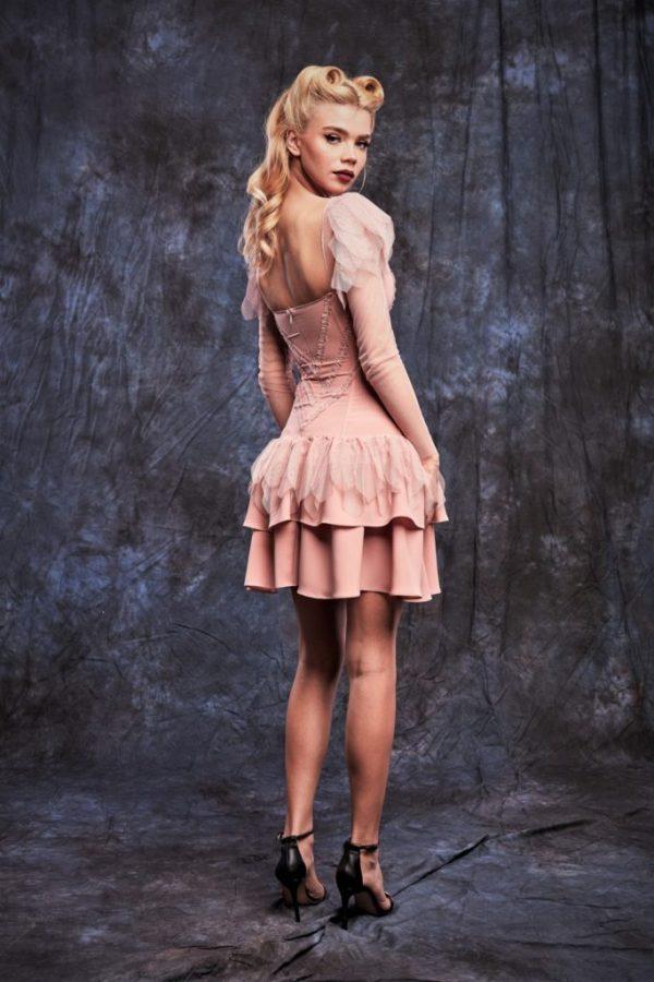 dusty-pink dress