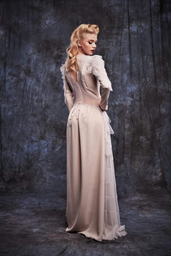 Evening Elegant Ivory Dress