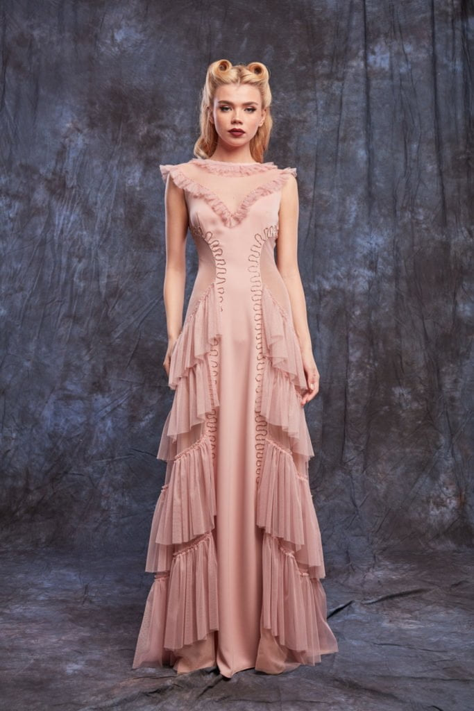 Dusty Pink Evening Dress