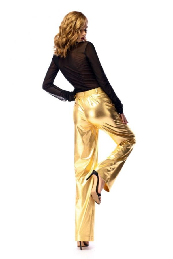 gold pants