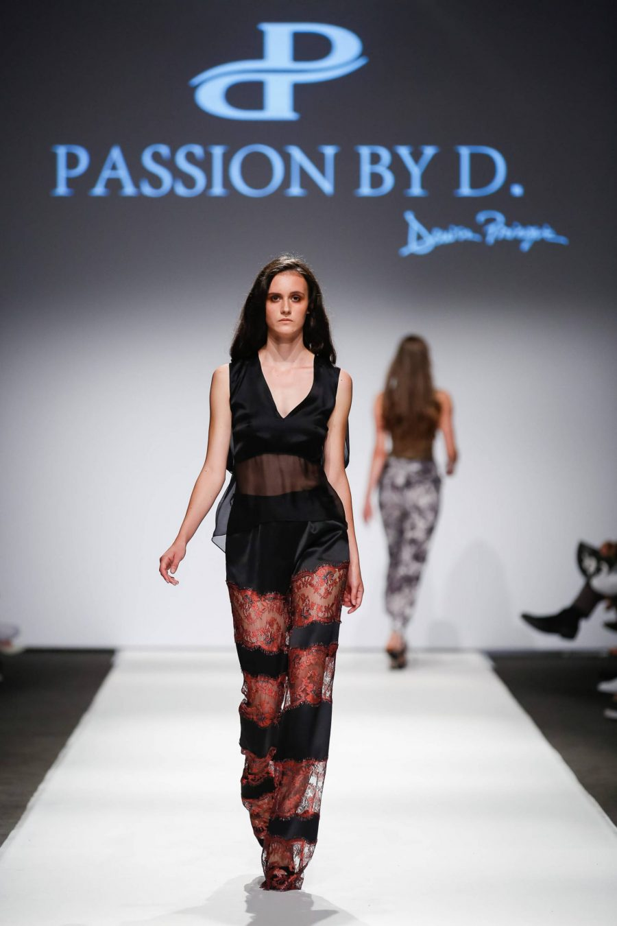 Open shoulder silk top Fashion Show Vienna Fashion week 2019 - Passion by D