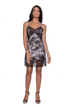 Lace Embellished Slip Dress