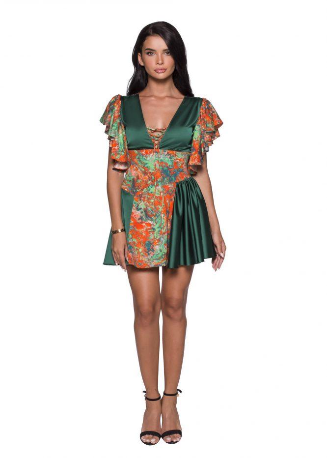 Silk Midi Printed Summer Dress cocktail dress