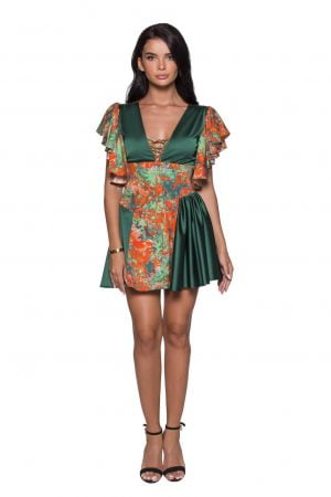 Silk Midi Printed Summer Dress cocktail dress