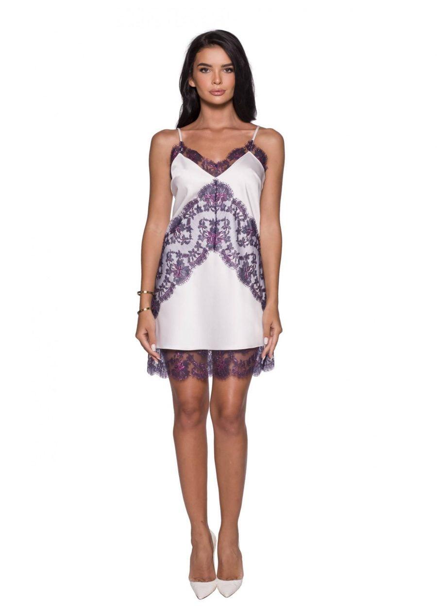 Lace Panel Slip Dress