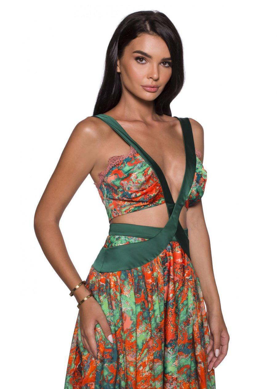 Evening Sexy Silk Dress