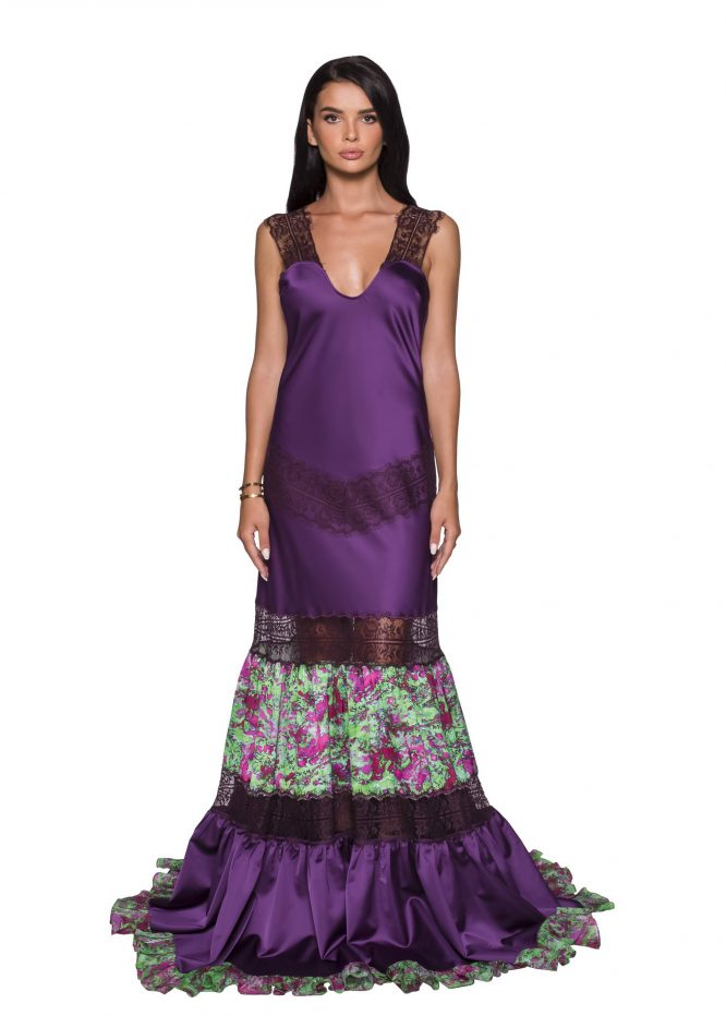 Prairie evening dress with lace