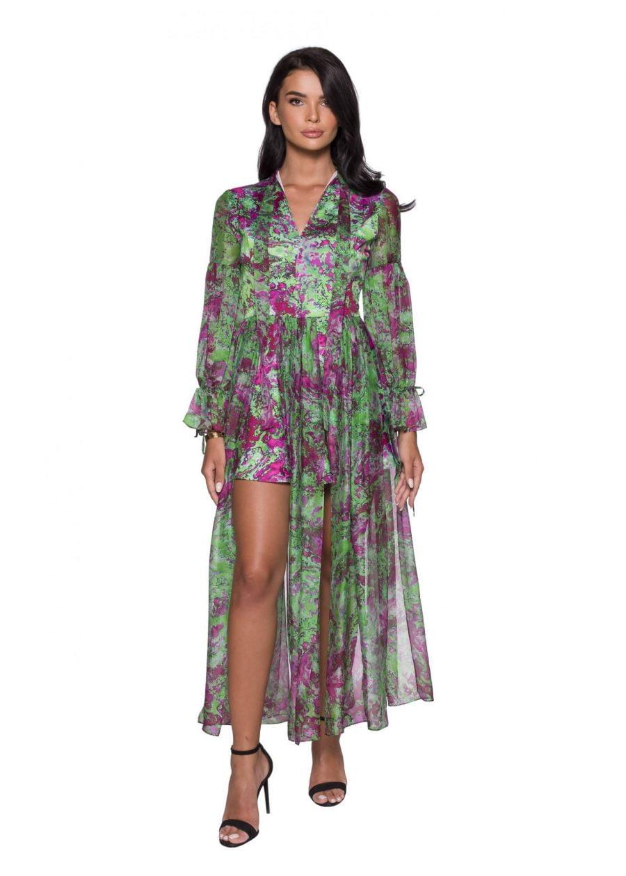 Silky Slices Midi Dress
