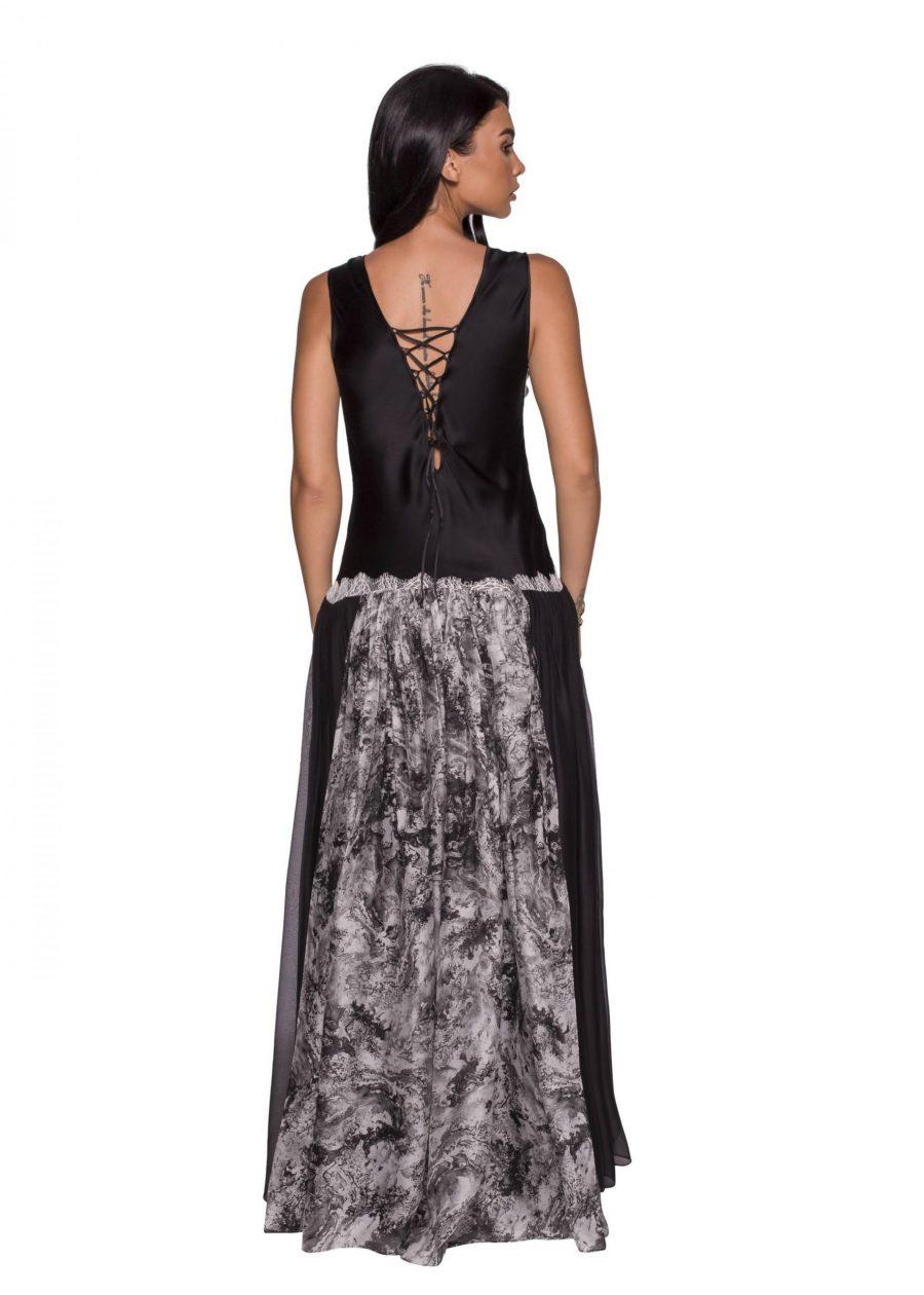 Evening silk dress