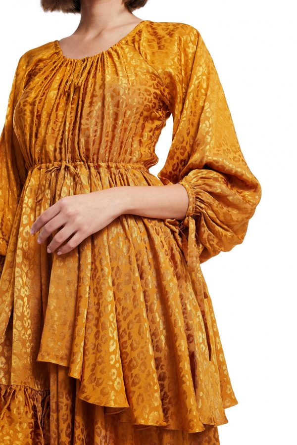 Dress with Long flared Sleeves