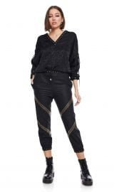 Gathered Ankle Pants with gold loops PassionByD