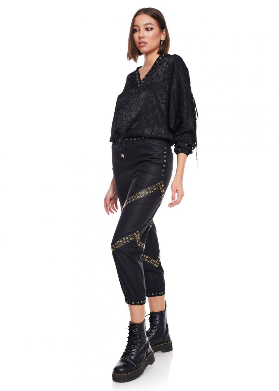 Gathered Ankle Pants