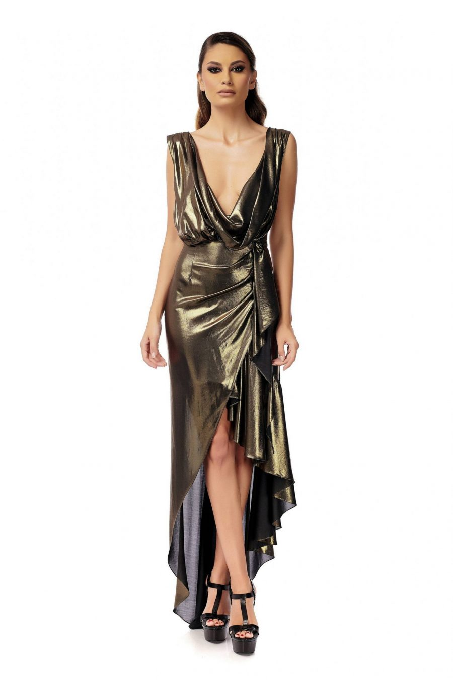 Evening silk dress
