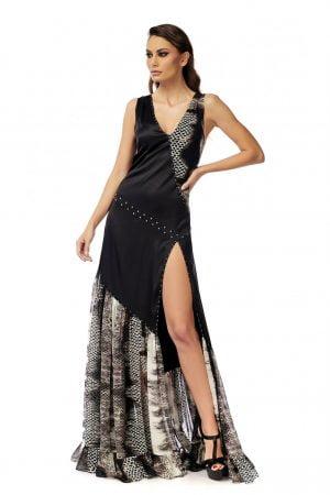 Open Dress with Swarovski Studs