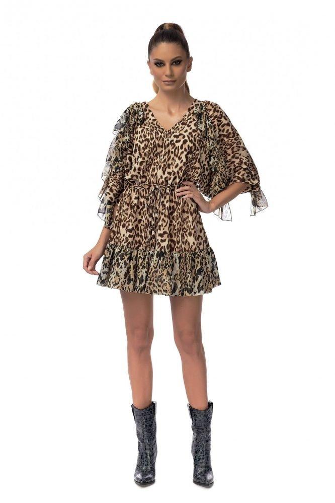 Animal print Raglan Dress
