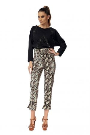 Snake Long Pants with High waist