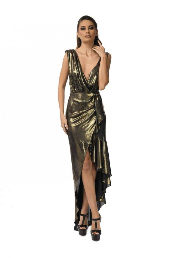 Evening Asymmetric silk dress