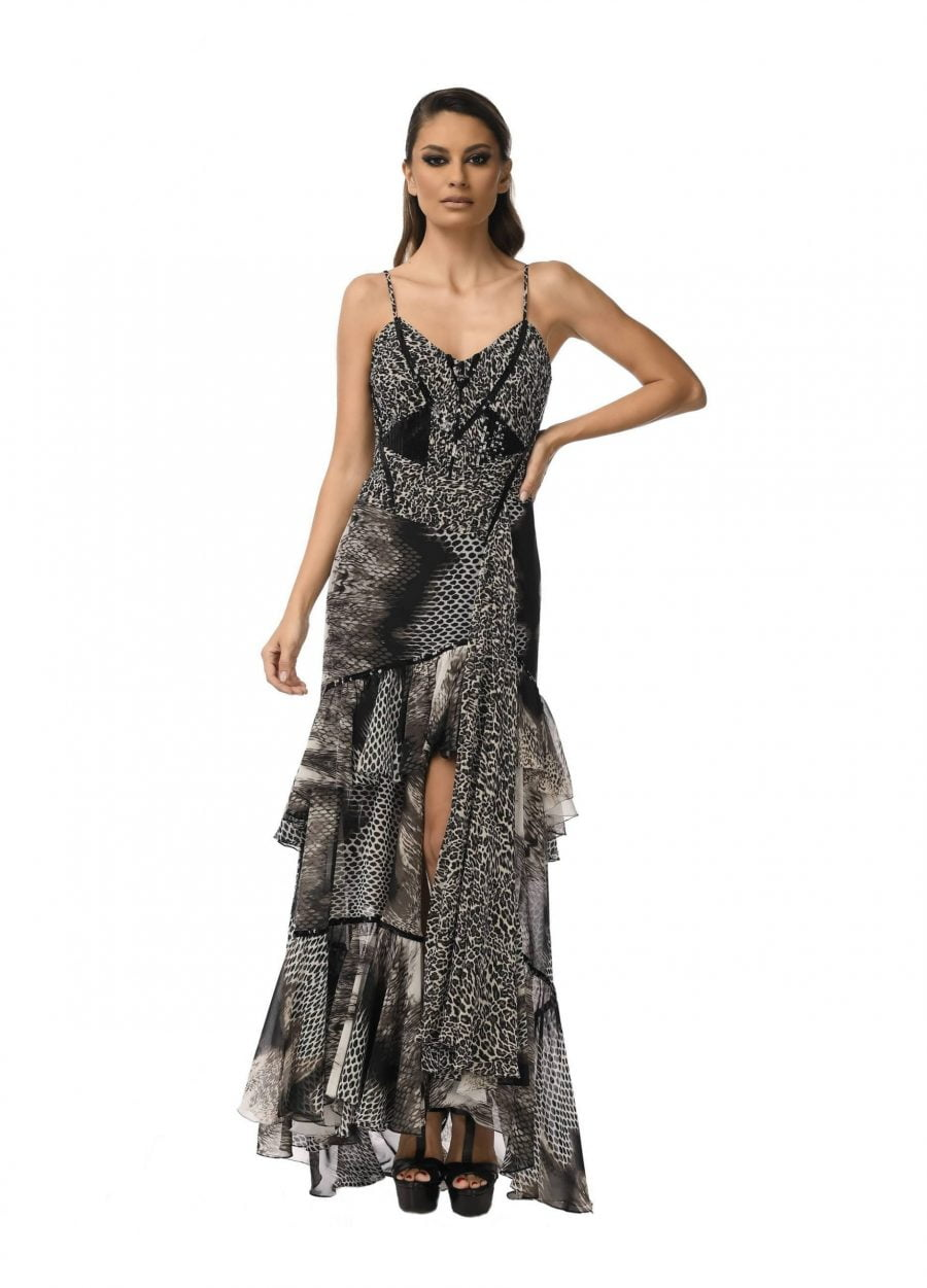 Evening Corset Dress with Sequins