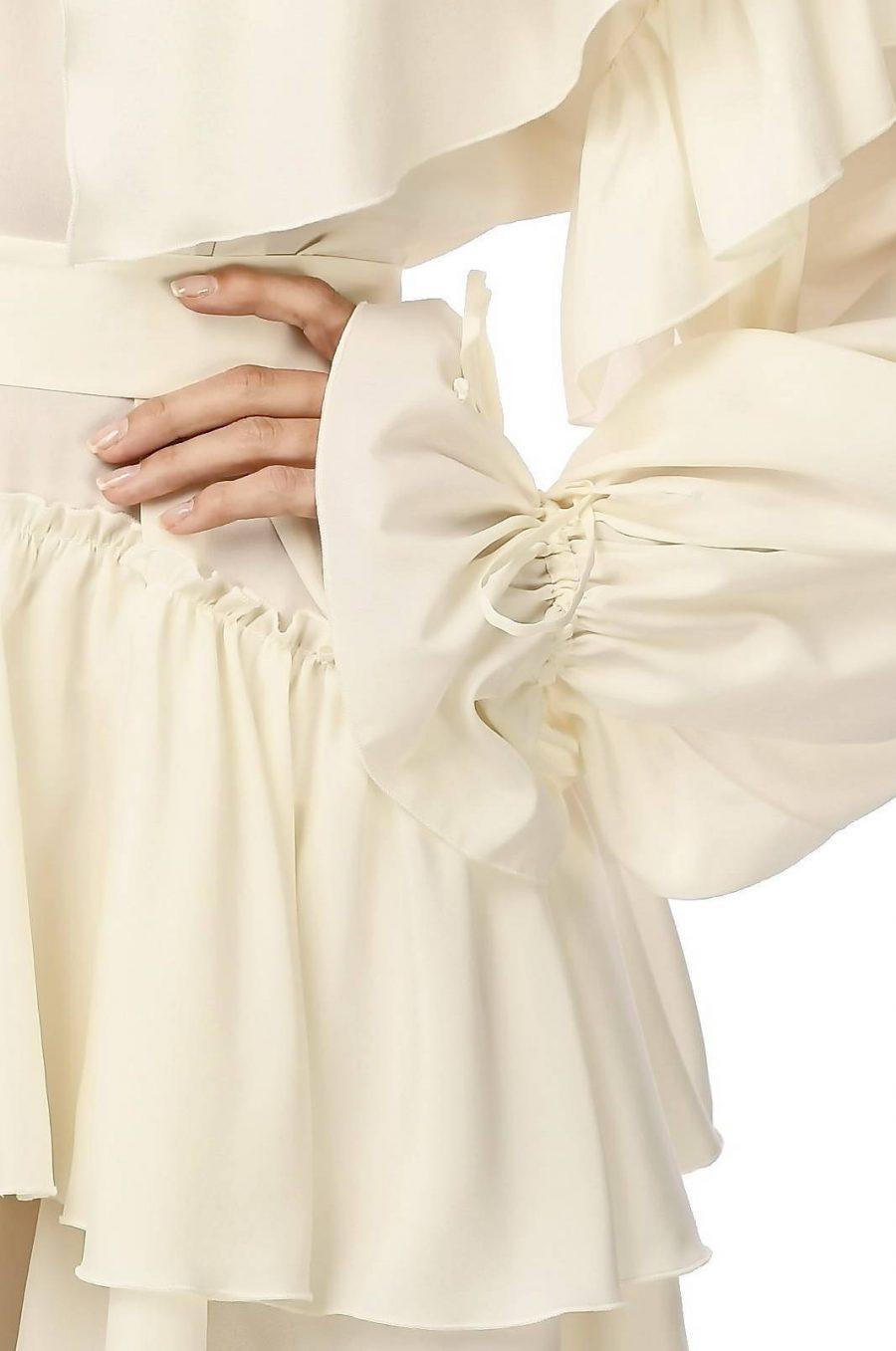 White Wide Short Dress