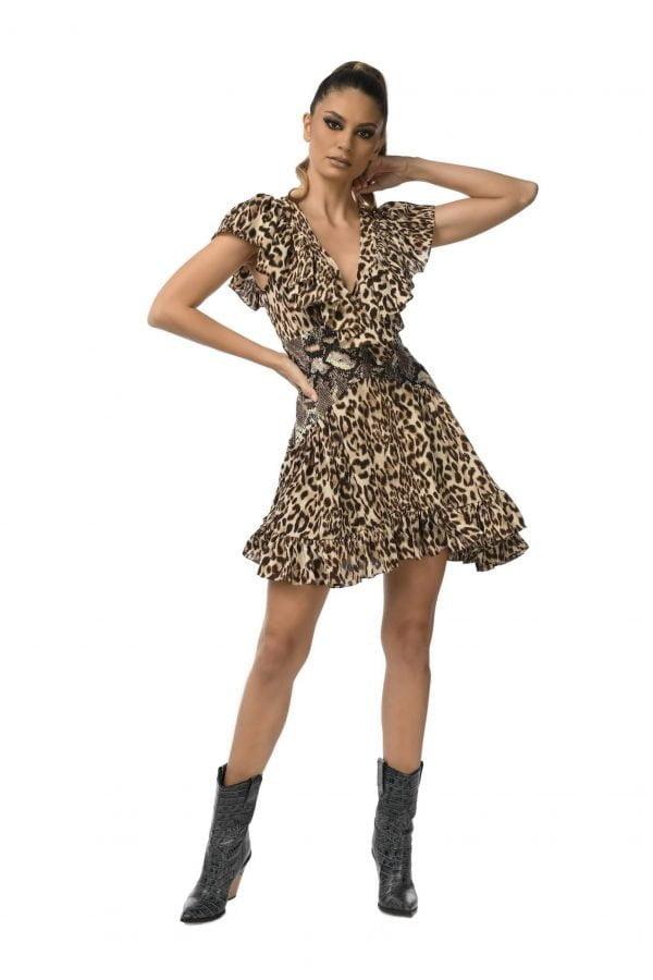 print animal Corset Dress