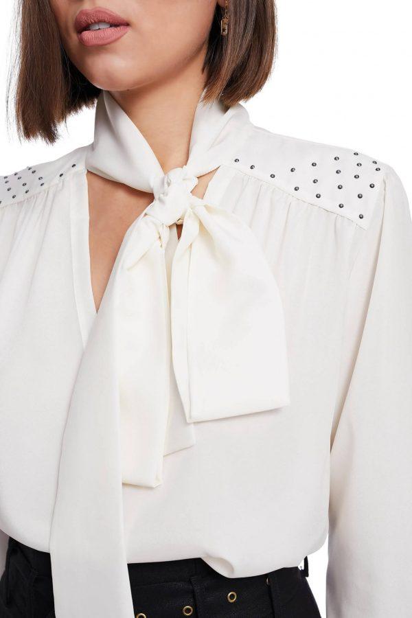 Silk Blouse with Swarovski Pearls
