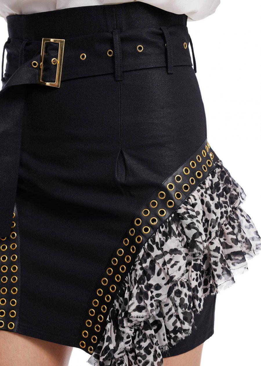 Waist Denim Skirt