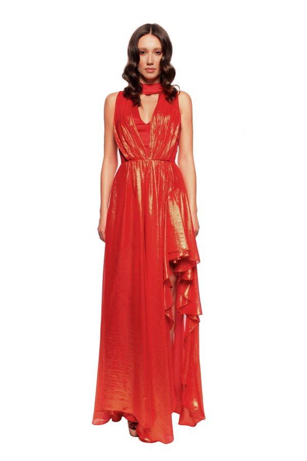 Evening Silk Gown