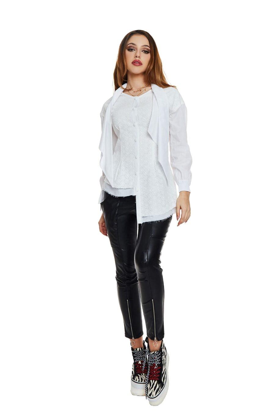 white asymmetrical shirt