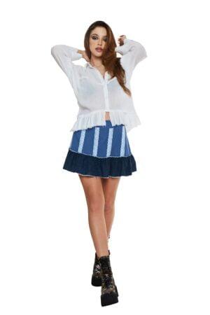 White muslin distress shirt