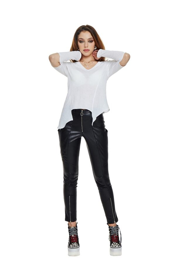 White blouse with cutouts