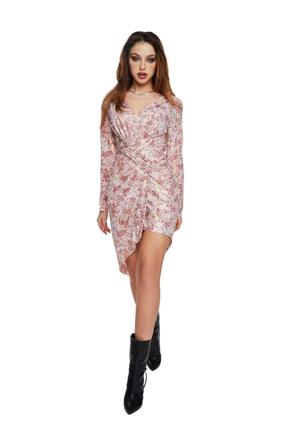 long-sleeved pleated dress!